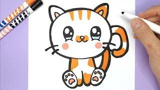 Eine Kawaii Und Niedliche Katze Zeichnen Und Malen Kawaii Bilder